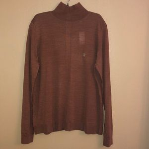 NWT LOFT Brown Turtleneck Sweater Sz Large